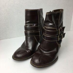 SZ 6.5 Mudd Brown Ankle Booties